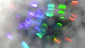 Moving красочная красивая запачканная текстура праздника bokeh Свет яркого блеска пестротканый сток-видео