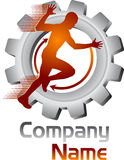 Moving логотип человека шестерни Стоковая Фотография