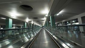 Moving дорожка в авиапорте Сеула Стоковые Фото