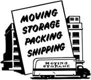 Moving доставка упаковки хранения Стоковое Изображение RF