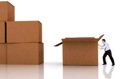 moving офисы Стоковая Фотография