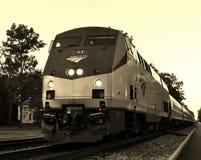 Moving пассажирский поезд Стоковое Фото
