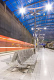 moving поезд станции Стоковое Изображение