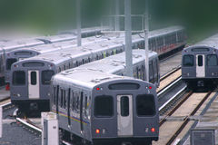 moving поезд стоковое изображение