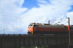 Moving поезд во время лета Стоковая Фотография RF