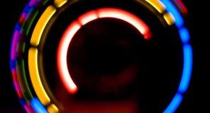 Moving света на черной предпосылке Стоковое фото RF