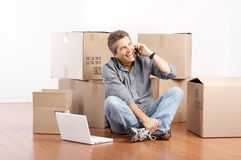 Moving Stock Image