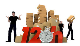 Moving in 12 Hrs Royalty Free Stock Images