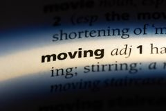 moving royalty-vrije stock afbeelding