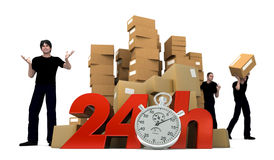 Moving in 24Hrs Royalty Free Stock Image