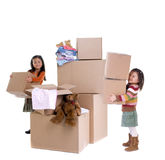 Moving. The joys of moving from one place to another Royalty Free Stock Images