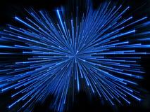 Виртуальные Moving частицы Стоковое Фото