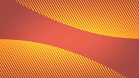 Abstract modern 3d rendering loopable animation. Flow yellow and orange lines background. 4k resolution. stock video