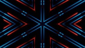 Moving abstract neon lines in space, 3d rendering. Backdrop stock illustration