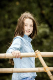 Moving into adulthood. Outdoor portrait of teenage girl. Stock Photos