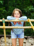 Moving into adulthood. Outdoor portrait of teenage girl. Royalty Free Stock Photos