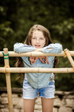 Moving into adulthood. Outdoor portrait of teenage girl. Royalty Free Stock Images