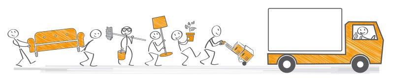 Moving allowance  illustration Royalty Free Stock Image