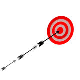 Moving arrow to target Stock Photography