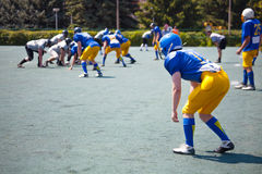 Moving athletes in american football Royalty Free Stock Images