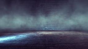 Concrete floor and spotlights