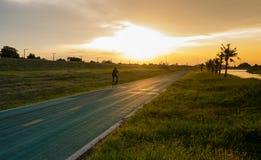Moving biker Stock Image