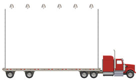 Moving Billboard. Illustration of a flatbed truck carrying a billboard Royalty Free Stock Images