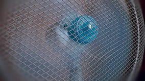 Moving blue fan in slowmotion. 1920x1080 stock footage