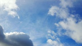 Moving sky and clouds sunny day stock footage