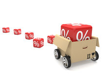 Moving Box Red Sale Cubes Royalty Free Stock Photos