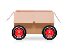 Moving box on wheels Stock Images