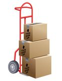 Moving Boxes Royalty Free Stock Photography