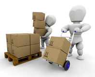 Moving boxes Stock Photography
