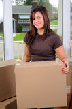 Moving Boxes Stock Photos
