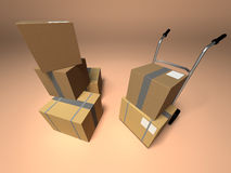 Moving boxes Royalty Free Stock Photos