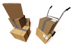 Moving boxes Royalty Free Stock Image