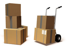 Moving boxes. 3d generated picture