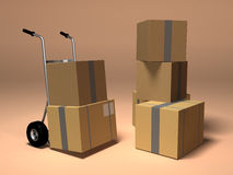 Moving boxes Royalty Free Stock Photo