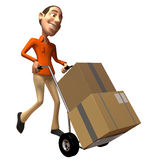 Moving boxes stock illustration