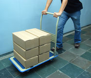 Moving boxes Royalty Free Stock Images