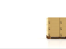 Moving boxes. 3d rendering Stock Photography