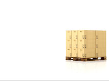 Moving boxes. 3d rendering Royalty Free Stock Photo
