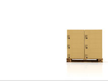 Moving boxes. 3d rendering Stock Photos
