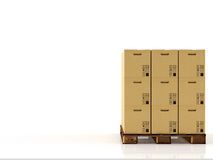 Moving boxes. 3d rendering Stock Images