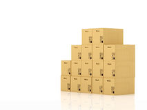 Moving boxes. 3d rendering Royalty Free Stock Images