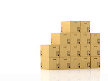 Moving boxes. 3d rendering Royalty Free Stock Photos