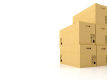 Moving boxes. 3d rendering Royalty Free Stock Image