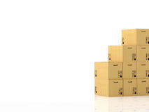 Moving boxes. 3d rendering Stock Photo