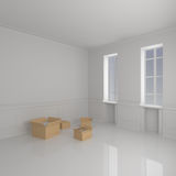Moving Boxes in Home Stock Image