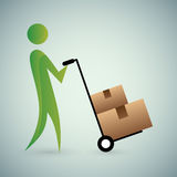Moving Boxes Icon Royalty Free Stock Images